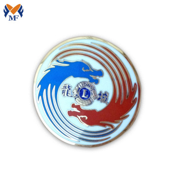 Button pin badge with dragon logo