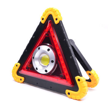 Warning USB Rechargeable Multifunctional cob working lamp