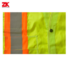 Oxford  fabric Shot sleeve reflective security jacket