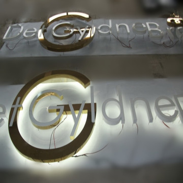 LED Illuminated Reverse Channel Letter Sign