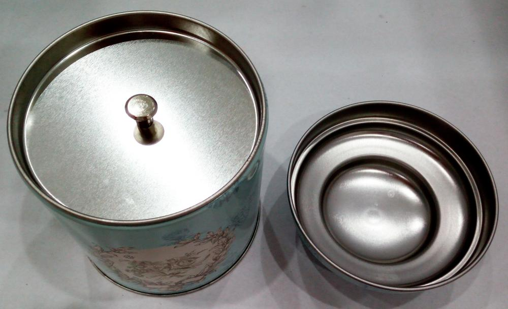 Double deck tea cans