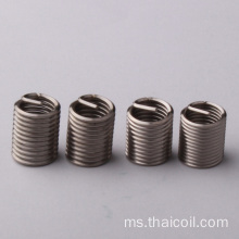 Memasukkan gegelung helical 304 stainless thread