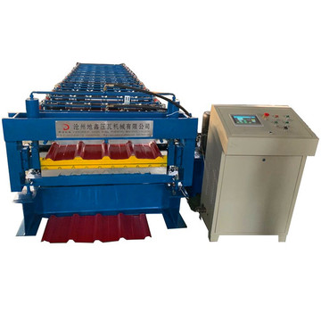 Double layer deck roof sheet roll forming machinery