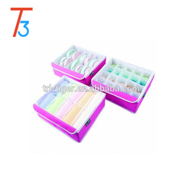 3 pieces Folding Fabrics Bra underwear covered Storage Container & storage box With clear lids