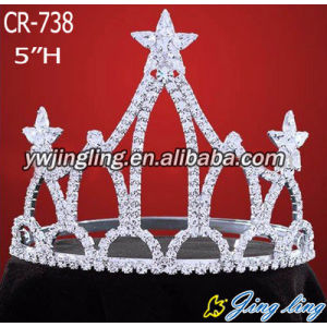 Beauty Patriotic rhinestone Star pageant crowns
