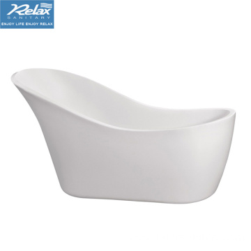 Simple white color acrylic freestanding bathtub