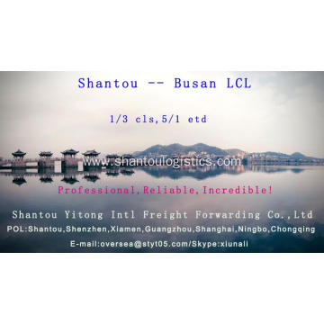 LCL Consolidation from Shantou to Busan