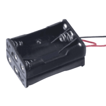 6 AAA Battery Holder with Wire Leads