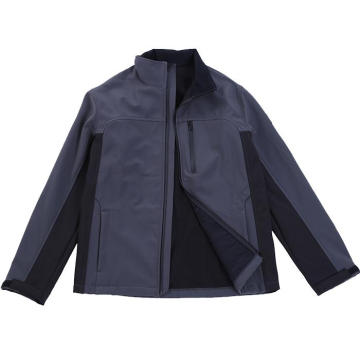 Casual mangas compridas com zíper Softshell Jacket for Men