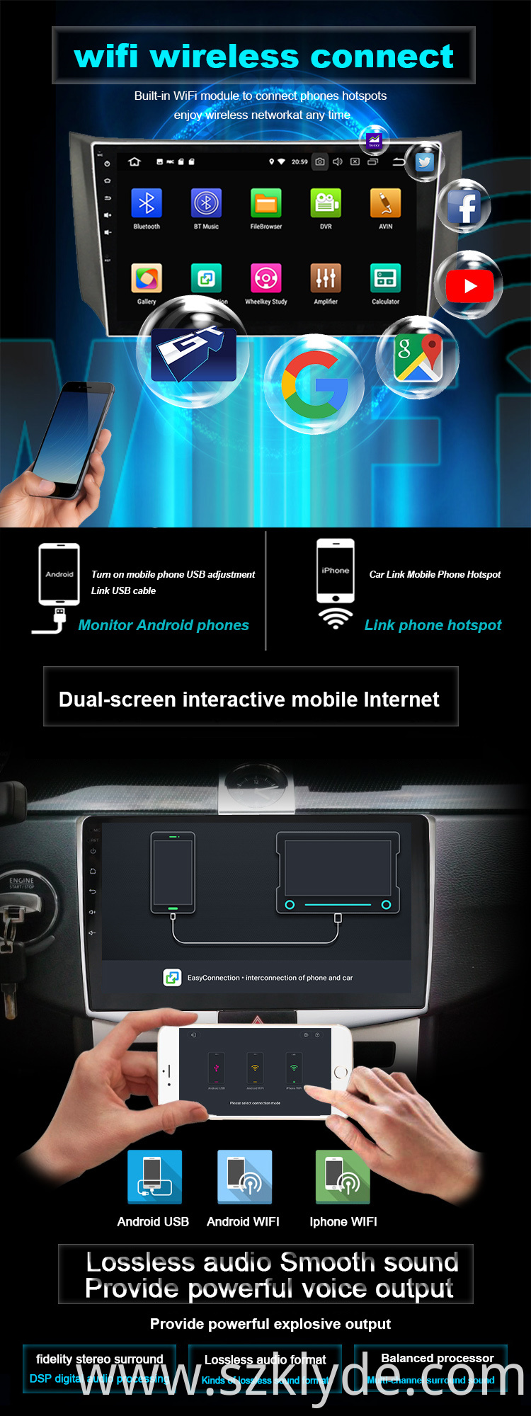 2019 Hot octa core car universal