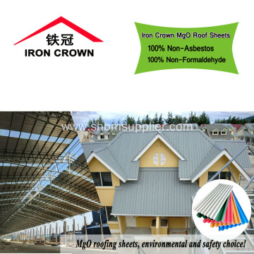 Fireproof Non-asbestos MgO Roof Tiles With Anti-aging Film