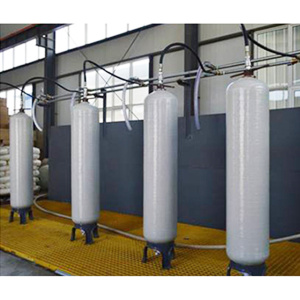 FRP pressure storage soft water tank