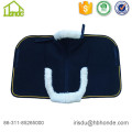 Different Piping Caparison Sheepskin Horse Saddle Pad