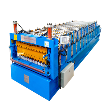 Double deck metal roof tile making machine