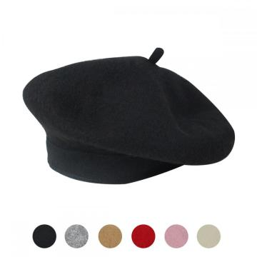 China Exporter for Women'S Berets YouGa Women Wool Classic Beret Hats Vintage Cap supply to Hungary Supplier