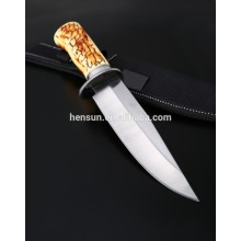 Plastic Handle Drop Point Fixed Blade Hunting Knife