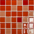Red Tan Paghaluin ang Crystal Glass Mosaic