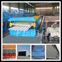 Supply for Glazed Tile rollform machine High quality steel roof sheet roll forming machine export to Niger Manufacturers