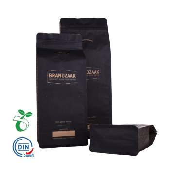 Biodegradable Flat Bottom Pouch Bag with Zipper