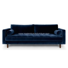 Sven Cascadia Luca Velvet Sofa Reproduction