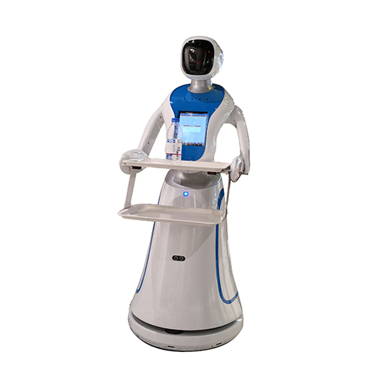 Artificial Intelligent Serving Food Robot Waiter In Hotel