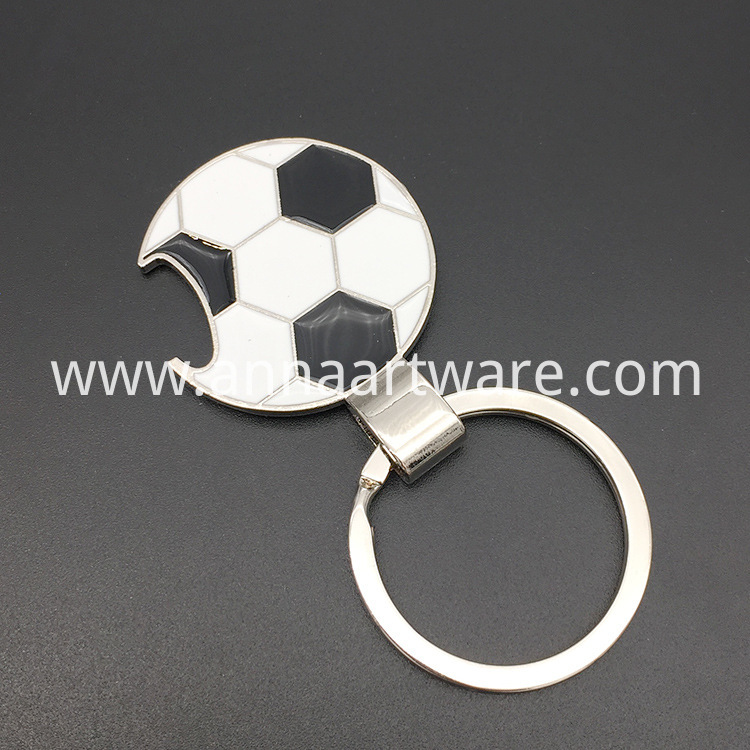 Football Keychain With Bottle Opener 01