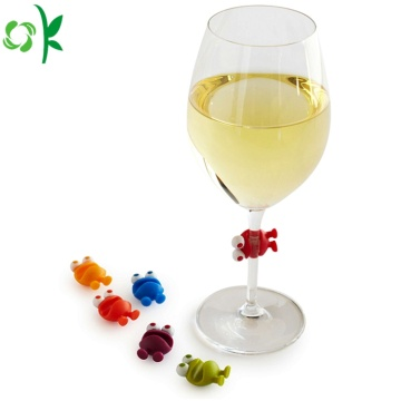 FDA Cute Silicone Wine Glass Marker for Party
