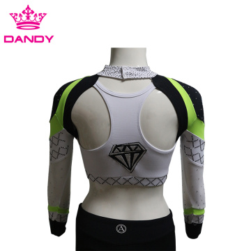Cheap Sublimated Cheer Tops For Kids