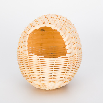 Customized for China Bird Houses,Hooded Bird Nest,Wood Bird House,Rattan Bird House Manufacturer Egg Shaped XLarge Rattan Bird Nest supply to India Manufacturers