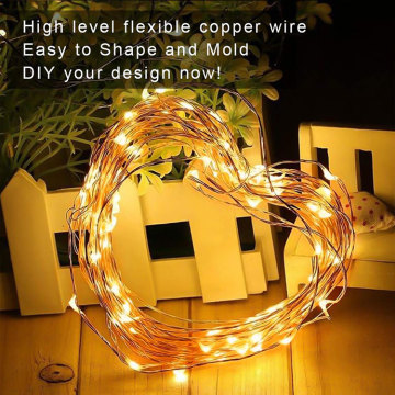 Waterproof Warm White Mini Fairy LED Copper Lights