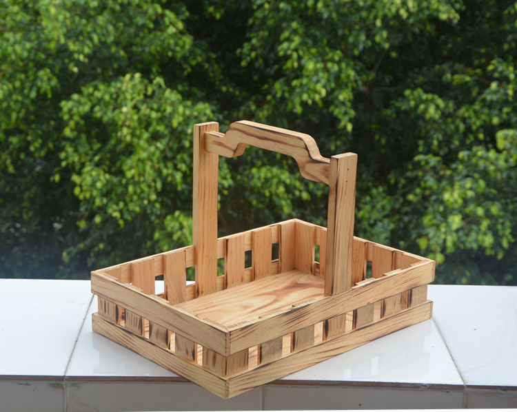 hand-made wood basket