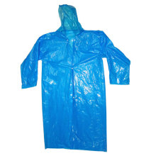 Hot sale disposable raincoat hooded with drawstring and sleeves