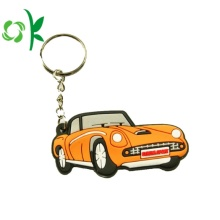 Custom High Quality 3D Car Shape Silicone Keyring