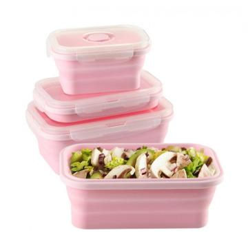 Silicone Lunch Box Portable Collapsible Folding Food box