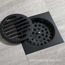 Good Quality for Anti-Odor Brass Floor Drain HIDEEP  Round Full Copper Black Floor Drain supply to Spain Exporter