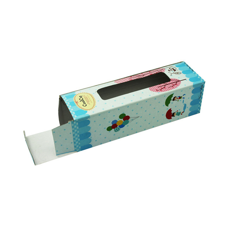 Long Colorful Printed Cup Packaging Paper Box