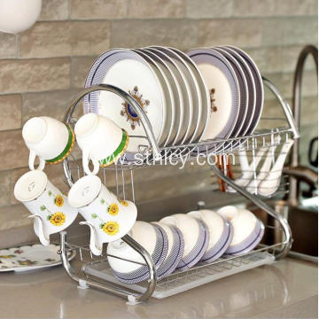 Kitchen Stainless Steel Shelving Dish Rack