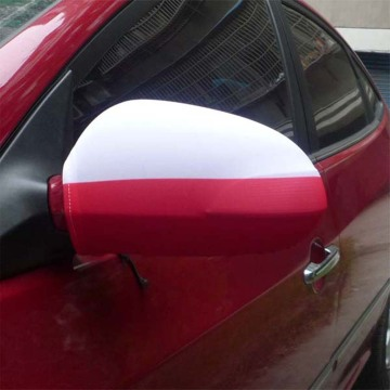 Poland Flag Spandex Knitted Polyester Car SIde Mirror Cover Flag
