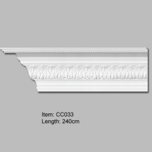 100% Original Factory for Crown Mouldings, Polyurethane Carved Cornice Mouldings, Cornice Corner Manufacturer in China Carved Acanthus Leaf Crown Moulding export to South Korea Importers