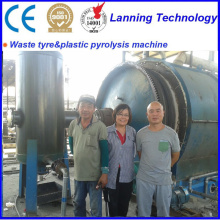 factory low price Used for Tires Pyrolysis Machine plastics pyrolysis to fuel oil equipment supply to Malta Manufacturers