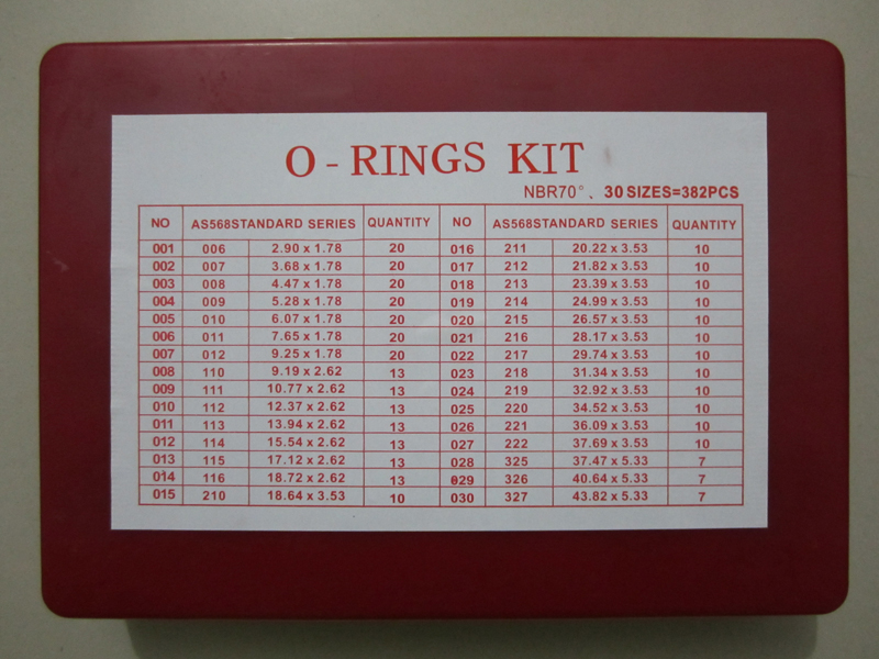 As568 Standard Series O Rings Kit Nbr70 382pcs
