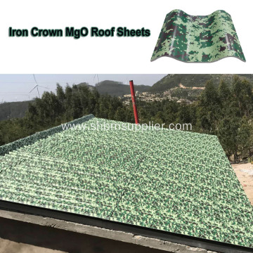 Anti-UV Non-asbestos Fireproof PET Film MgO Roof Sheets