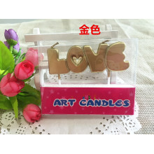 "Short Lead Time for for Letter Birthday Candles,Birthday Cake Letter Candles,Colorful Letter Shape Candle Suppliers in China ""Love"" letters shaped stick candles for valentine cake supply to Congo, The Democratic Republic Of The Suppliers"