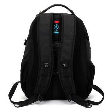 Suissewin Black Waterproof Outdoor Leisure Laptop Backpack