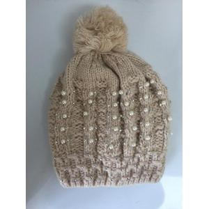 Customized for Knitting Hat Bead Thick Lining Jacquard Winter Knitting  Hat export to Western Sahara Manufacturer
