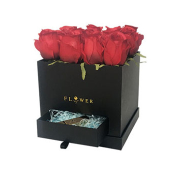 Luxury Black Flower Box Delivery for Birthday Wholesale