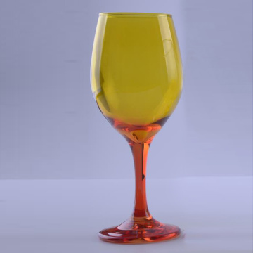 Ombre Colored Glass Goblet For Sale