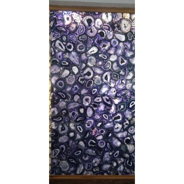 luxury interior purple agate slab