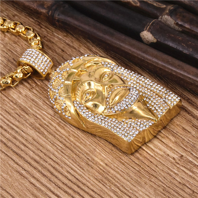 Gold Jesus Piece Necklace