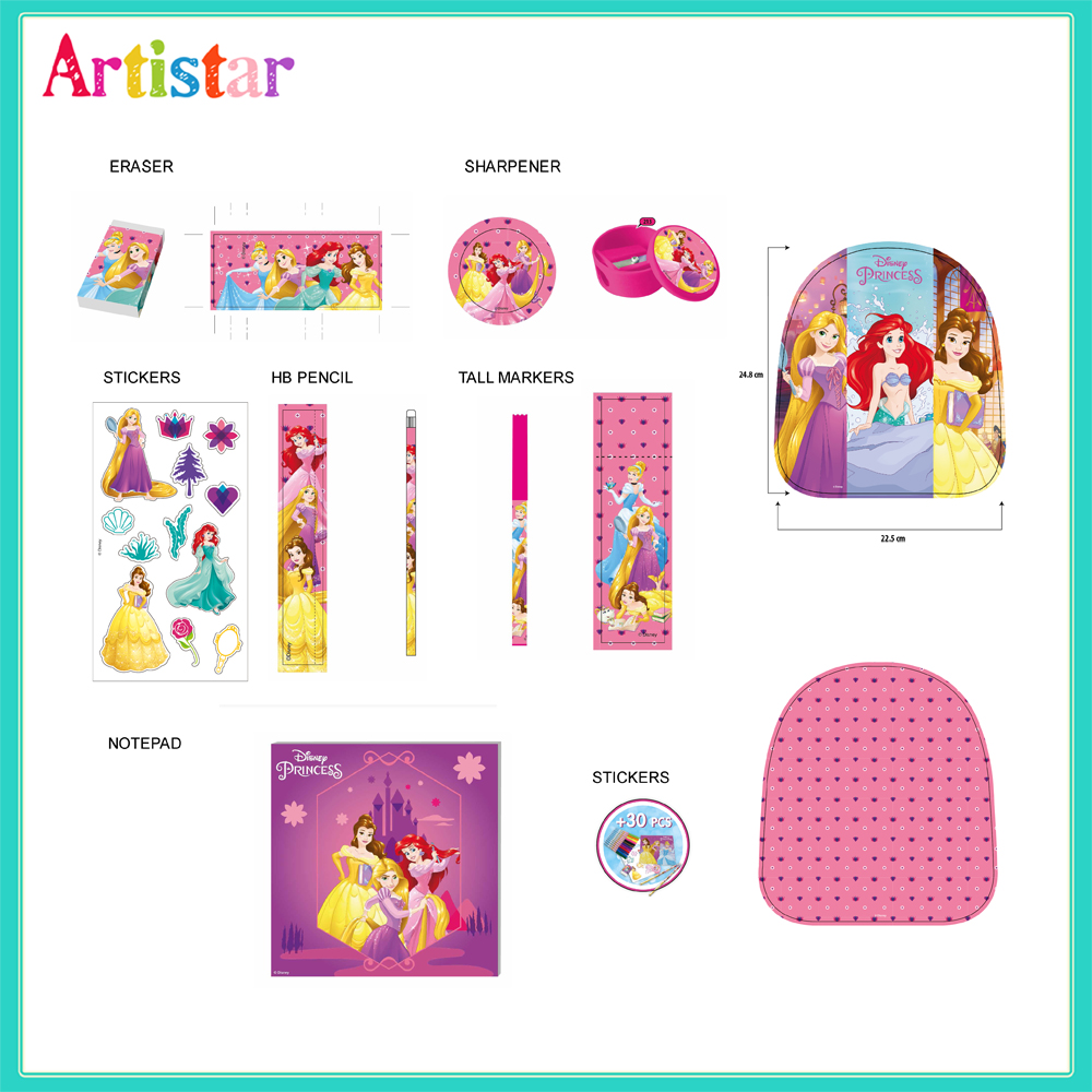 Disney Princess Mini Backpack With Stationery 01